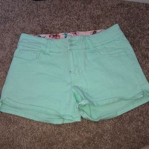 Delia's Mint green shorts gently used